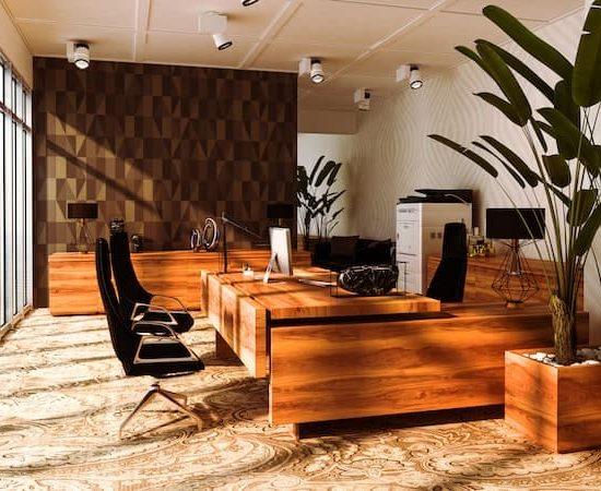 homeoffice hardwood timber working desk_511481538-min