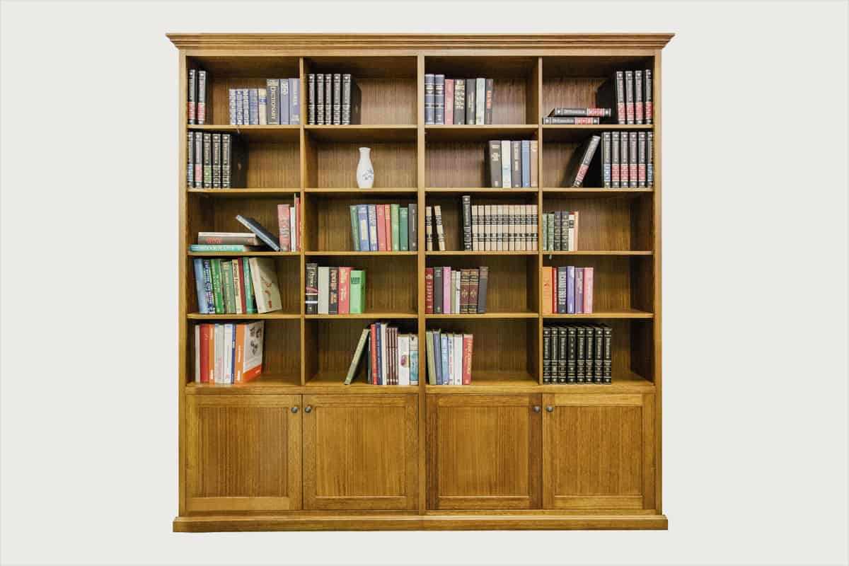 tasmanian oak federation timber bookcase
