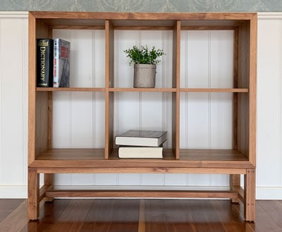 Edison blackwood solid timber bookshelf
