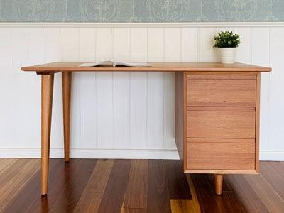 Edison blackwood solid timber desk