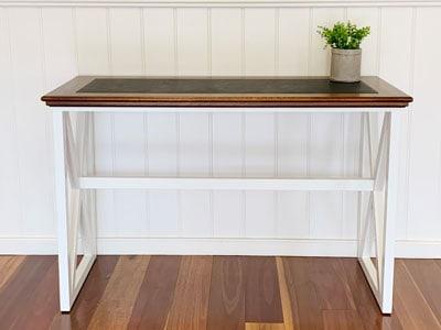 Hamilton vinyl inlay timber desk
