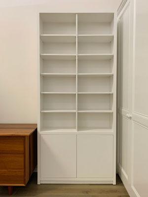 Jonas Free standing white bookcase